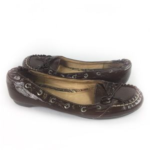 SPERRY   loafer patent leather brown 7.5 Top Sider